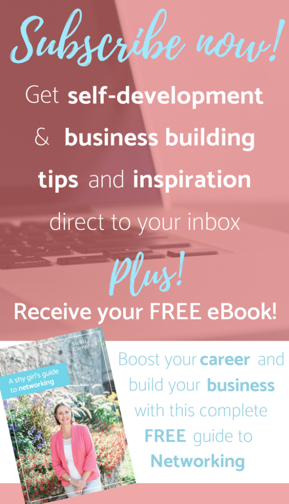 Subscribe For Inspirational Tips and a Free Networking Guide