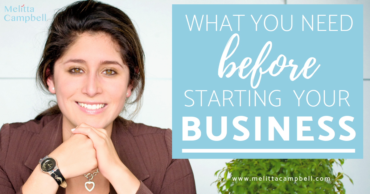 What you need Before starting your own business and where to focus your time and attention.