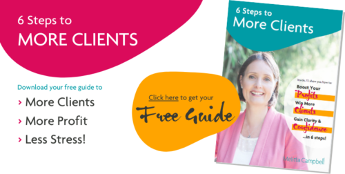 6 Steps to More Clients - download your free eBook. Get the exact steps to attract and win more clients.