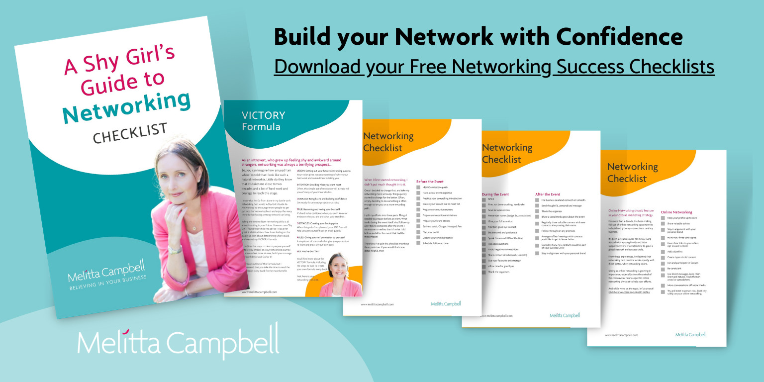 Build your Networking with Confidence. Download your Free Networking Success Checklists